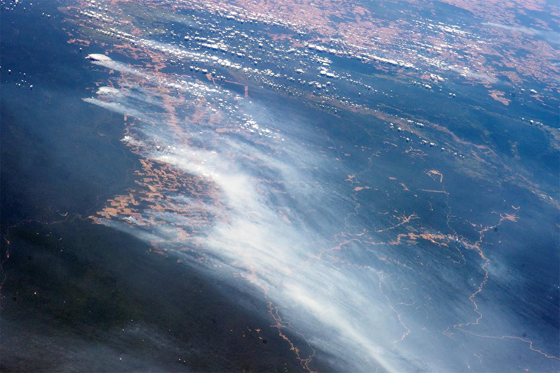 Amazon Yağmur Ormanı Tahribatı (Uzaydan)