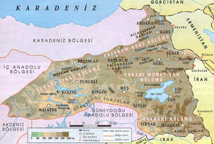 Doğu anadolu bölgesi'nin önemli yeryüzü şekilleri