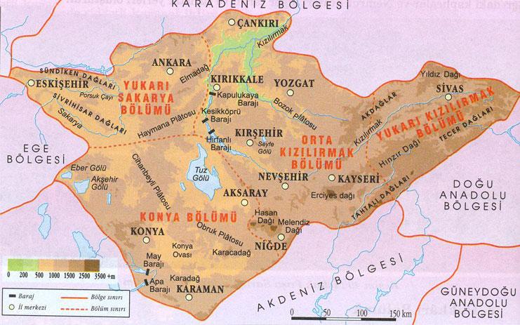Iç anadolu bölgesi nin önemli yeryüzü şekilleri