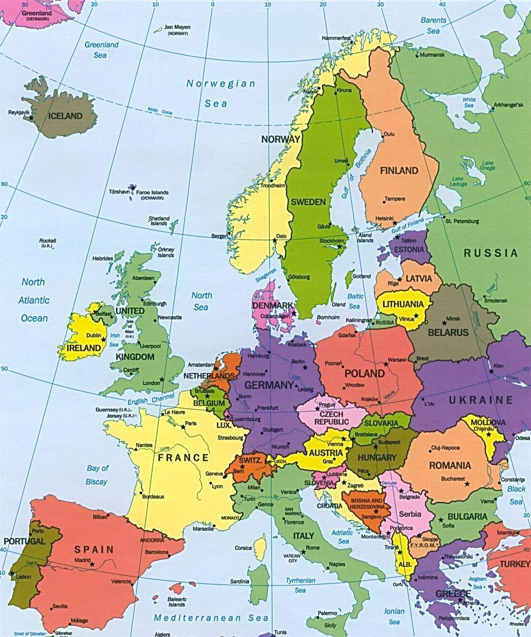 Avrupa nın siyasi haritası