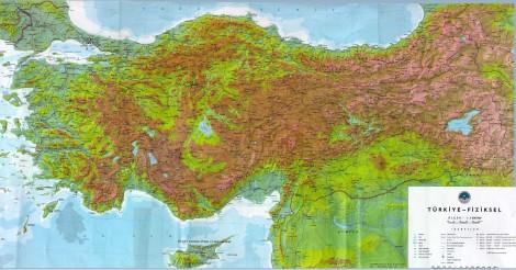 Türkiye fiziki haritası türkiye fiziki haritası 2 türkiye