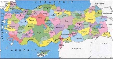 Türkiye ile ilgili haritalara haritalar bölümünden
